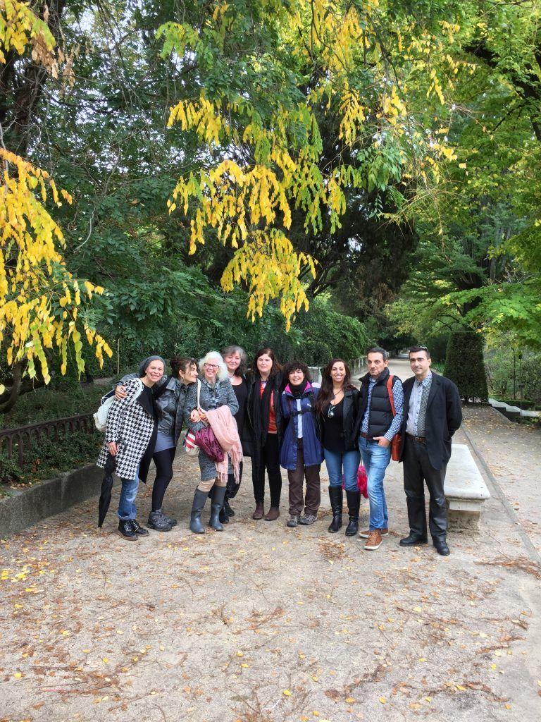 En el Jardín Botánico de Madrid. Taller de signatura e intuición.