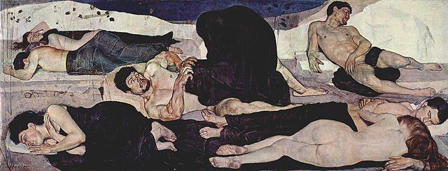 Ferdinand Hodler. The Night (1890)