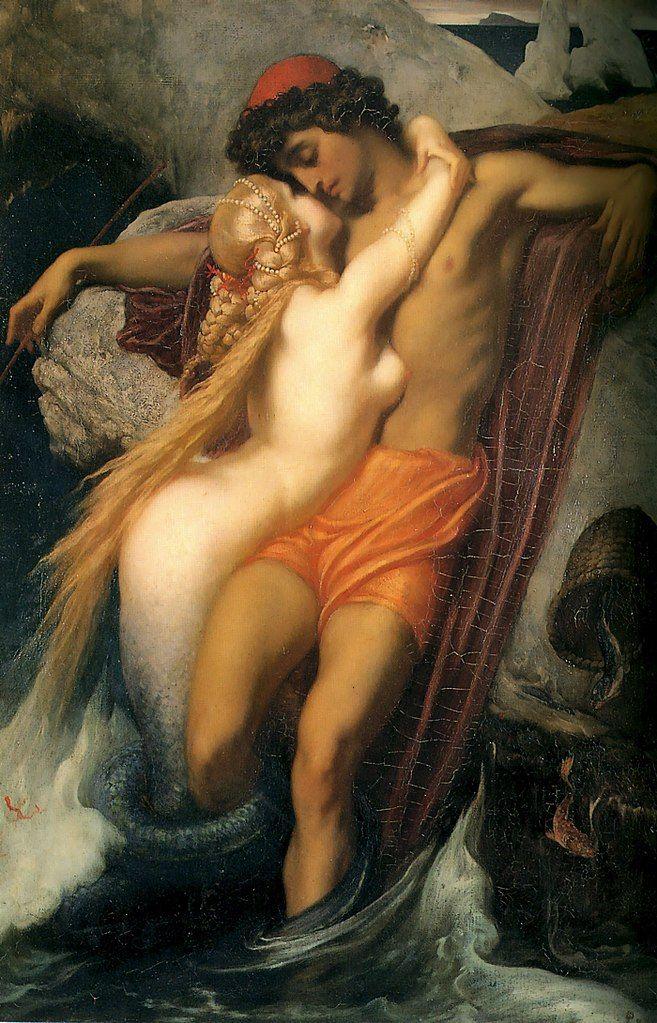 Frederic Leighton. El Pescador y la Sirena. 1856-1858